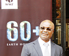 Roger Milla celebrating Earth Hour with WWF Cameroon