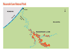 Rusenski Lom pilot site map.