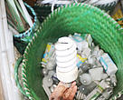 A simple gesture for our environment, let's put our light bulbs into the sorting bins