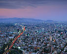 Aerial view of Mexico City - the world's second largest, Mexico.