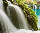 Waterfalls in autumn, Milanovac lake, Downer lakes, Plitvice National Park, Croatia.