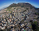 Aerial view of the Cape Town central business district