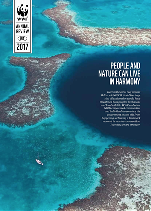 Annual review cover 2017  	© WWF