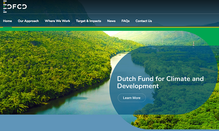 Dutch Fund for Climate and Development open for business
