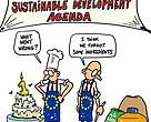 A happy anniversary cartoon sent to EU decision makers by WWF for the first birthday of the 2030 Sustainable Development Agenda