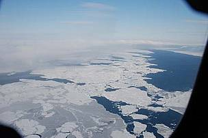 Sea ice from the air.