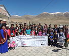 Community celebrating snow leopards in Kyrgyzstan