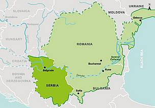 Map of Serbia.