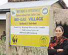 Jari Maya Tamang, one of the first to install a biogas system in her village. Badreni, Nepal.