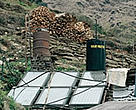 In addition to meeting lighting needs, solar panels can be used for heating water. Annapurna Conservation Area, Nepal.