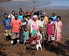 Naividamu villagers who were part of the replanting of 1,500 mangroves pose for a group photo