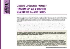 A guide to sourcing Certified Sustainable Palm Oil for business.  	© WWF