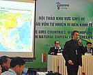 WWF Greater Mekong Conservation Director, Stuart Chapman, presenting at the 2-day regional workshop in Hanoi attended by 100 delegates, which focused on the need to invest in natural capital.
