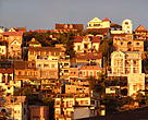 The evening light shining over the capital of Madagascar: Antananarivo