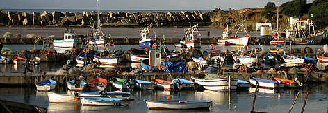 Small fishing harbour in the National Park of Taza, Algeria rel=