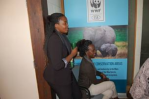 Tea break at WWF Eastern & Southern Africa office!