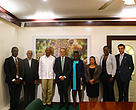 Team at the President of Guyana