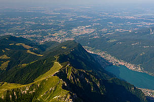 Urbanised and natural areas in the region of Monte Generoso (Switzerland/Italy).