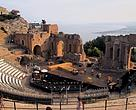 The ancient theatre overlooking Taormina