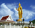 The Bronze Buddha and temple on the top of Hat Yai Hill