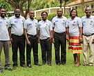 Staff of NDF, from left Mustapha Seidu, Glen Asomaning, Salisu Nuhu, Margaret Appiah, Kwasi Nasangma, Salomey Tetteh and Emmanuel Agbodza