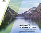 A climate for the future - assessment of countries' 2050 low carbon plans. Cover image.