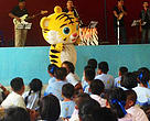 Trademark Big Cat Band performing as part of innovative community and school outreach activities.