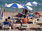 Tourists beach in Kemer, Mediterranean Sea, Turkey.  	© WWF / Michel GUNTHER