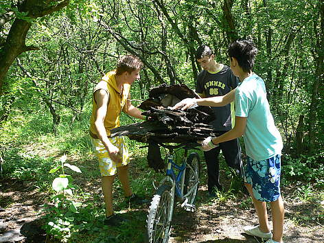 Volunteers participate in WWF's National Day of Nature Parks in Shumensko plato Nature Park, ... rel=