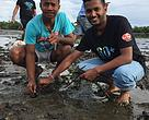 Two youth part of the mangrove Earth Hour initiative in Tavua