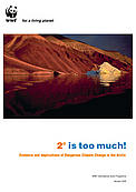 2 degrees is too much! report cover  	© WWF