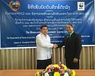 The agreement was signed by Director General of the Department of Forest Inspection of the Ministry of Agriculture and Forestry (left)  and Country Director of WWF-Laos (right)