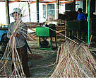Rattan products in the making. The plant is an important source of jobs and income.