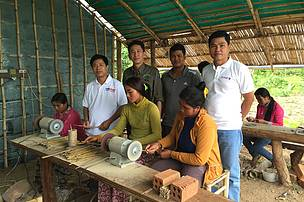USAID visit at the Bamboo enterprise in Mondulkiri