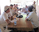 Bolivian cattle ranchers in technical tour in Brazilian Pantanal