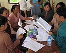 Villagers conduct a strengths, weaknesses, opportunities, and threats analysis of their business.