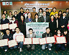 Chinese university students with their WWF Wetland Ambassador certificates.