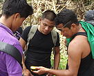 Community members use smartphones to input the forest data and later download it to computers for analysis and mapping.
