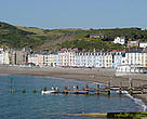 Aberystwyth, Wales, UK. The town could be flooded by rising sea levels due to global warming and climate change.