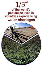 One third of the world's population lives in countries experiencing water shortages  	© WWF