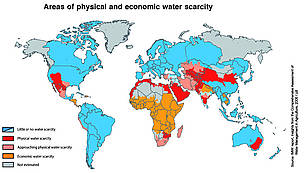 Freshwater whats at stake what were missing what were losing iwmi 2006 map showing coloured areas in the world gumiabroncs Images