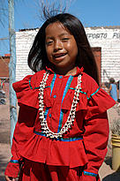 Seri girl from the Comca'ac culture in Sonora, Gulf of California, Mexico.