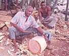 Kenya's wood carvers hard at work creating their works of art.