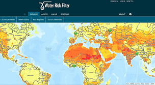 The Water Risk Filter map
