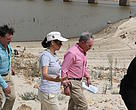 Michael Bloomberg visiting the Theewaterskloof Dam with Christine Colvin from WWF-South Africa.