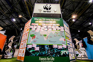 WWF booth, XIV WFC, Durban, South Africa.