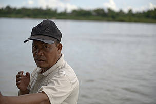Mr Noumai Buapasert, Village Chief and local fisherman, Hangkhone Village.