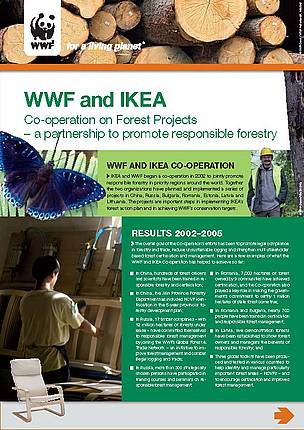 WWF & IKEA Co-operation on Forest Projects - Summary of achievements