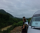 Field visit along the planned Dawei road to study potential wildlife crossing sites and location of bridges and culverts, Sep 2015