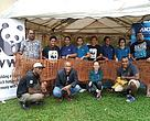 WWF-Pacific staff with ANZ Bank participants after yesterday's coir-log weaving workshop at 4 Ma'afu Street, Suva